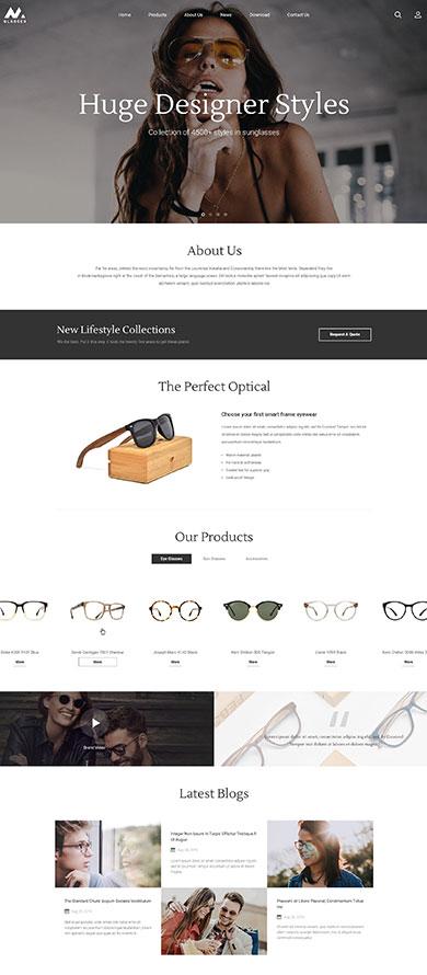 时尚眼镜型风格